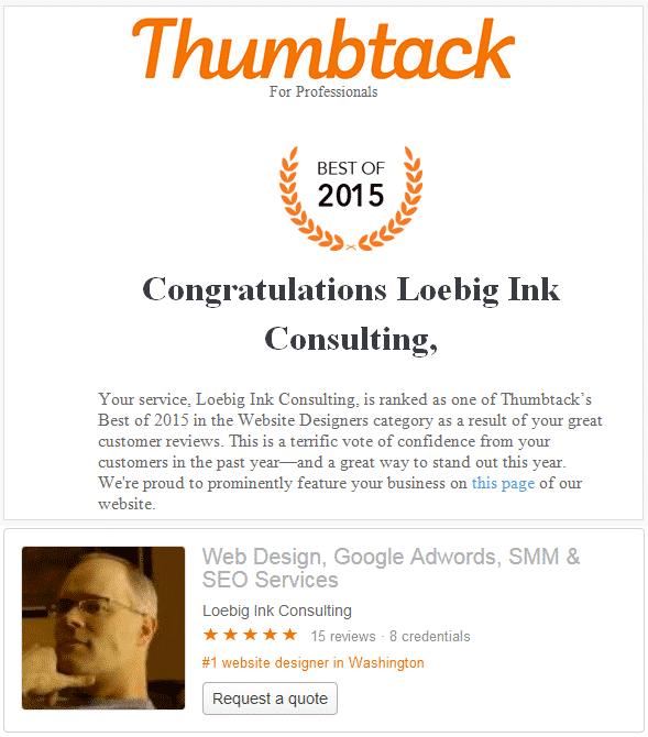 best web designer of thumbtack 2015