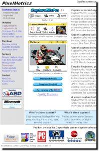 Capture Wiz Pro website