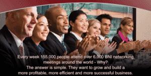 BNI members applauding