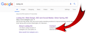 SERP Feature - Site Links