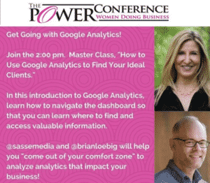 The Power Conference - Women Doing Business - Master Class with @sassemedia and @brianloebig