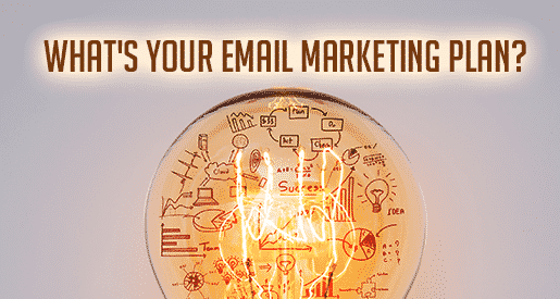What's Your Email Marketing Plan? lightbulb/diagram