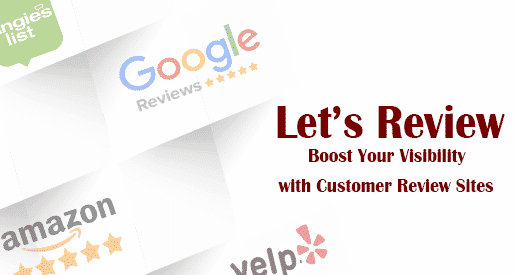 Let's Review - Google Reviews, Amazon, Yelp, Angie's List logos