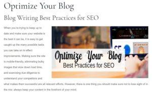 Optimize Your blog screenshot