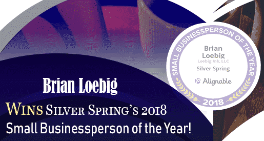 Brian Loebig Wins Silver Spring's 2018 Small Businessperson of the Year!