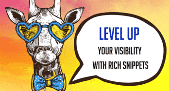 "giraffe with heart sunglasses and a bow tie - ""Level Up Your Visibility with Rich Snippets"""