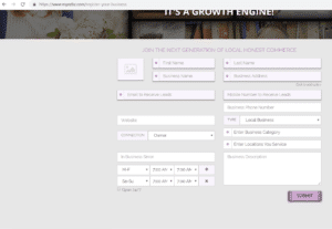 Screen Shot of My EZBZ directory
