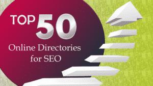 Top 50 SEO Online Directories Graphic