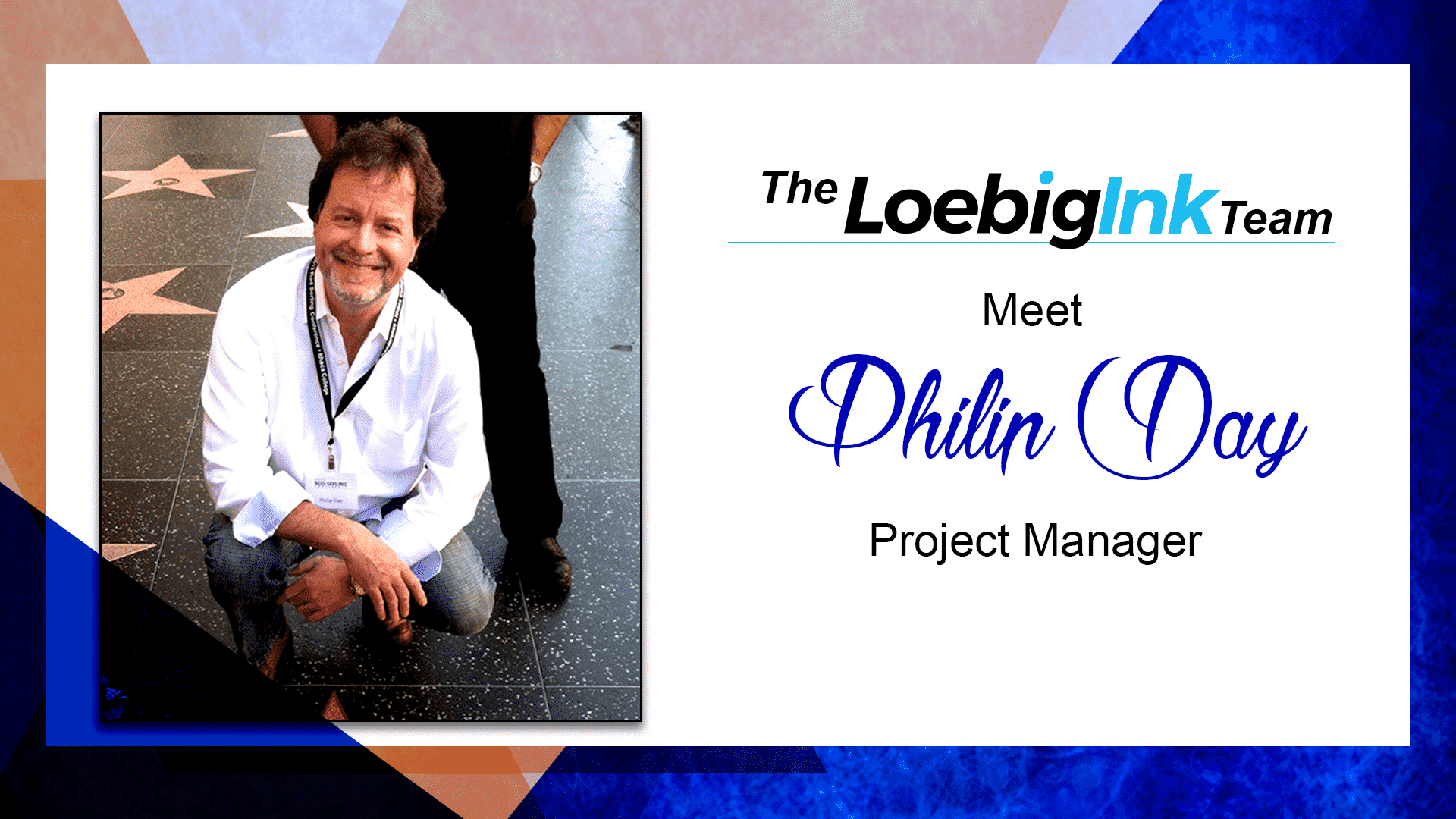 Loebig Ink Project Manager Philip Day