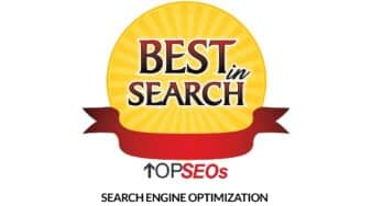 Best in Search Award from Top SEOs.com